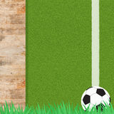 Football soccer on grass Royalty Free Stock Images
