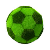 Football/Soccer grassy ball Stock Images