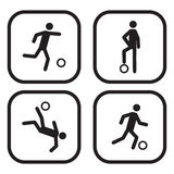 Football or soccer icons.  Stock Photography
