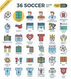 Football / Soccer Icons. Football / Soccer outline icons modern style for website or print illustration Stock Images
