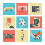 Football or Soccer Icons Set Stock Photography