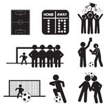 Football or Soccer Icons Royalty Free Stock Images