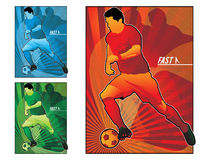 Football soccer  illustration Stock Images