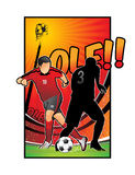 Football soccer  illustration Royalty Free Stock Photo