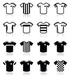 Football or soccer jerseys icons set Royalty Free Stock Images