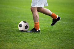 Football soccer match. Training and football soccer tournament Stock Images