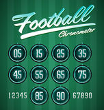 Football - Soccer Modern Green digital timer Royalty Free Stock Photography