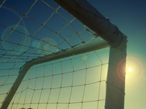 Football soccer net! Stock Photos