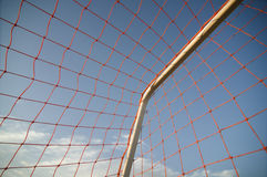 Football soccer net Stock Photo