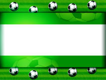 Football soccer panel on green Royalty Free Stock Photography