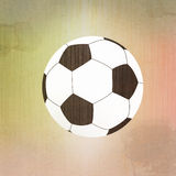 Football soccer on paper Royalty Free Stock Photo