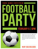 Football Soccer Party Flyer Invitation Illustration Stock Images