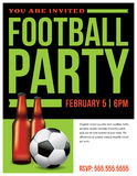 Football Soccer Party Flyer Royalty Free Stock Photography