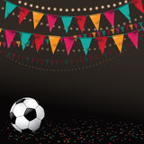 Football soccer party invitation background. NEPS 10 vector royalty free stock illustration perfect for flyer, ad, marketing, invitation, poster, web Stock Photos