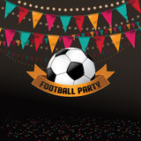 Football soccer party invitation background. EPS 10 vector royalty free stock illustration perfect for flyer, ad, marketing, invitation, poster, web Royalty Free Stock Photography