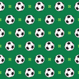 Football or Soccer Pattern Stock Photo