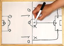 Football/Soccer play diagram Stock Image