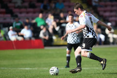 Football Soccer Player. Sean Cronin of Neath Athletic is seen in action during their Welsh Premier League match against Bala Town at The Gnoll Stadium, Neath stock photo