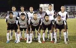 Football Soccer Player. TERENGGANU - JANUARY 30: Terengganu starting line up during their Malaysian Super League match against Kuala Lumpur January 30, 2010 in Stock Photo