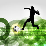 Football or soccer player background Stock Image