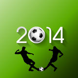 Football or soccer player background Royalty Free Stock Photos