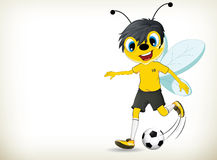 Football/Soccer Player Bee Royalty Free Stock Image