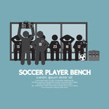 Football Or Soccer Player Bench Black Symbol. Stock Photography