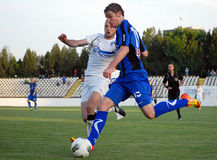 Football or soccer player effort Royalty Free Stock Photography