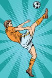 Football soccer player kick the ball Royalty Free Stock Photography