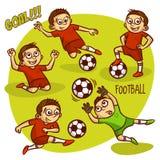 Football Soccer Player Set Royalty Free Stock Image