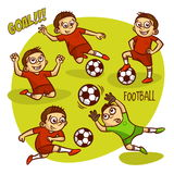 Football Soccer Player Set Royalty Free Stock Images