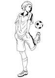 Football soccer player training Royalty Free Stock Photo