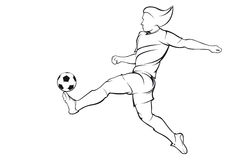 Football (soccer) player Royalty Free Stock Images