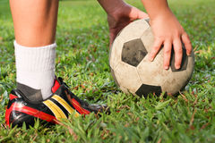 Football or soccer players. Football give a good Exercise and team work Royalty Free Stock Photography
