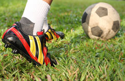 Football or soccer players. Football give a good Exercise and team work Royalty Free Stock Photo