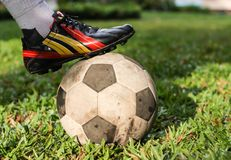 Football or soccer players Royalty Free Stock Photos