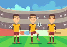 Football, soccer players vector illustration Stock Photo