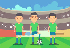 Football, soccer players vector illustration Royalty Free Stock Photo