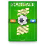Football or soccer poster with text design. Template for game tournament. vector illustration