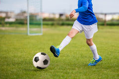 Football soccer practice training match for children. Sport educ. Ation for kids Stock Photography