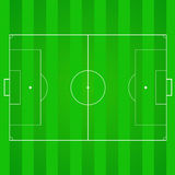 Football, soccer realistic, textured field. Football, soccer green, realistic, textured field. Top view with marking, easily resizable and any other elements Royalty Free Stock Photography