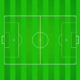 Football, soccer realistic, textured field. Football, soccer green, realistic, textured field. Top view with marking, easily resizable and any other elements Royalty Free Stock Photo