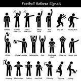 Football Soccer Referees Officials Hand Signals Cliparts Stock Images