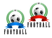 Football or soccer retro emblem Royalty Free Stock Photo