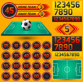 Football - Soccer scoreboard and timer Royalty Free Stock Photography