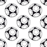 Football or soccer seamless pattern Royalty Free Stock Images