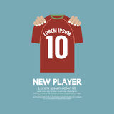 The Football/Soccer Shirt A New Player Contract Signing Concept Royalty Free Stock Images