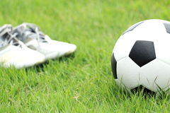 Football and soccer shoes Stock Image