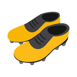 Football soccer shoes isometric 3d icon Royalty Free Stock Image