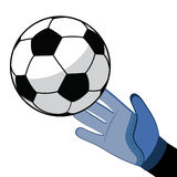 Football and Soccer Shooting for Goal Stock Image